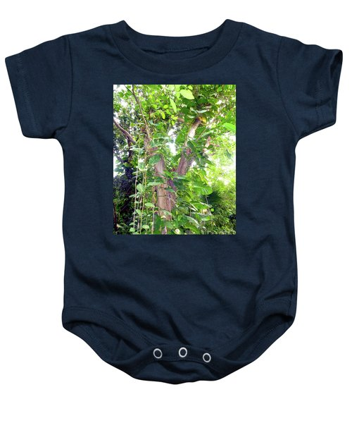 Baby Onesie featuring the photograph Under A Tropical Tree With Vines by Francesca Mackenney