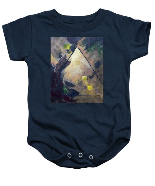 Untitled Abstract 730-17 Baby Onesie