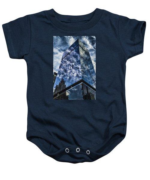 Urban Clouds Reflecting  Baby Onesie