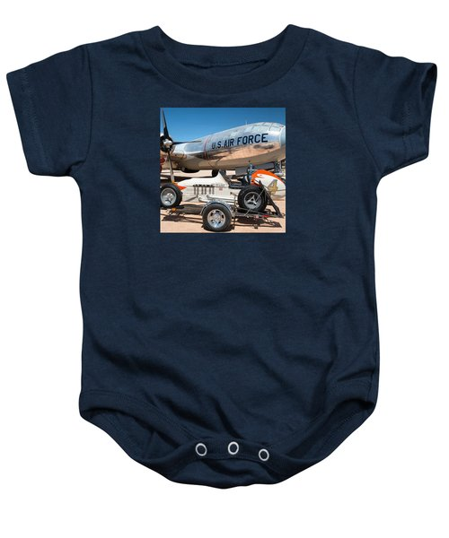 Us Air Force Airplane And Race Car  Baby Onesie
