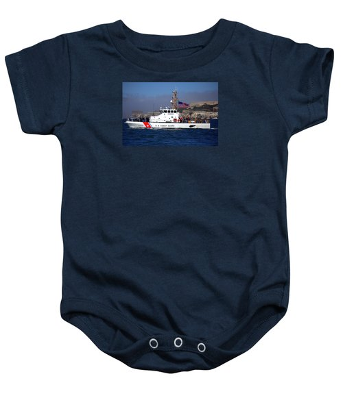 Uscg Hawksbill Patrols San Francisco Bay During Fleet Week Baby Onesie
