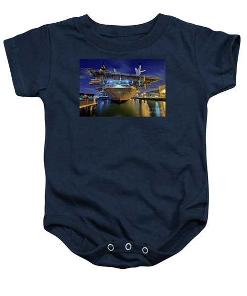 Uss Midway Aircraft Carrier  Baby Onesie