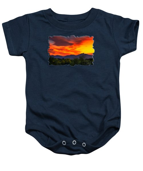 Valley Sunset H32 Baby Onesie by Mark Myhaver