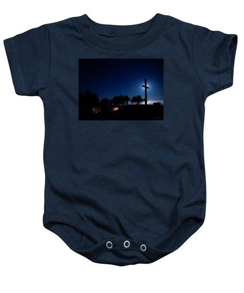 Ventura Ca Cross At Moonset Baby Onesie
