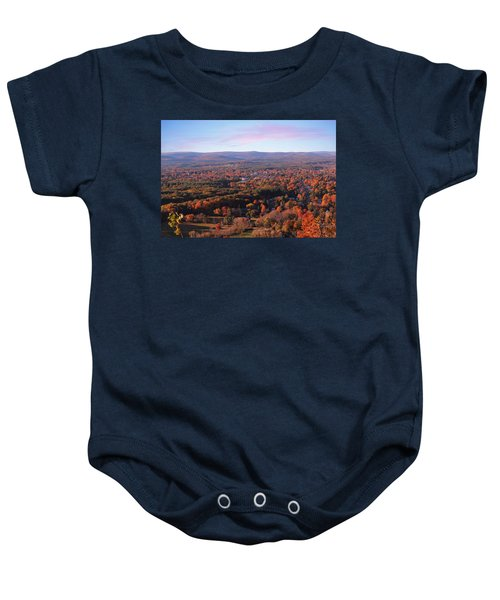 View From Mount Tom In Easthampton, Ma Baby Onesie