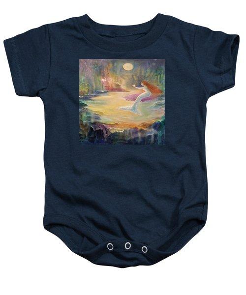 Vintage Mermaid Baby Onesie by Lily Nava