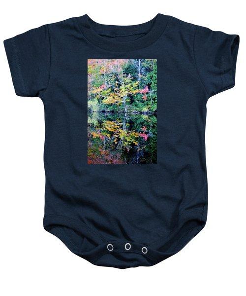Vivid Fall Reflection Baby Onesie