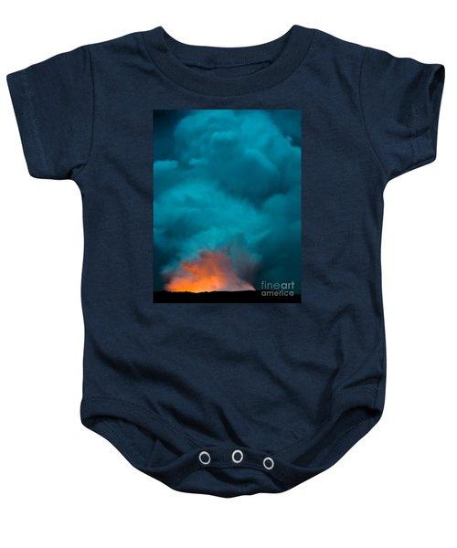 Volcano Smoke And Fire Baby Onesie