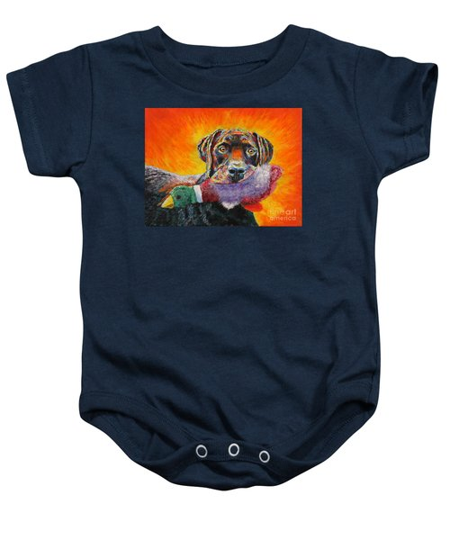 Wannabe Retriever Great Dane Baby Onesie