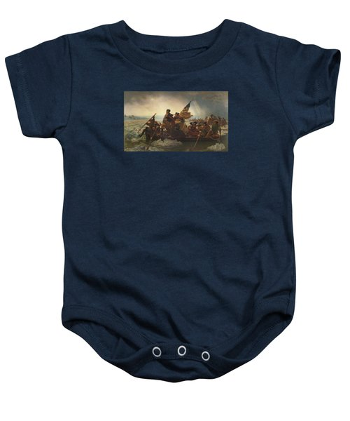Washington Crossing The Delaware Painting  Baby Onesie