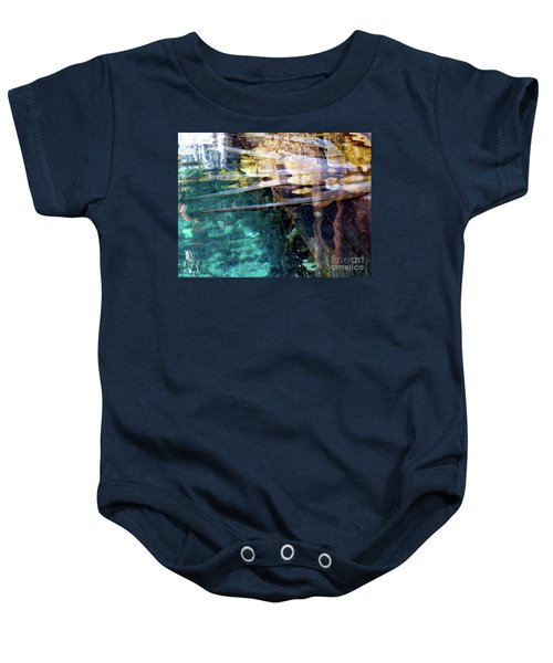 Baby Onesie featuring the photograph Water Reflections by Francesca Mackenney