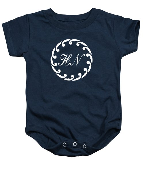 Wave Ring And Cipher In White Baby Onesie