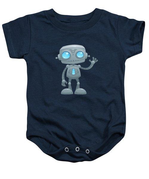 Waving Robot Baby Onesie