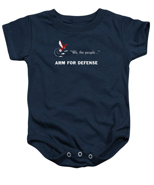 We The People Arm For Defense Baby Onesie