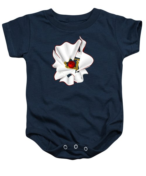 White Abstract Flower Baby Onesie