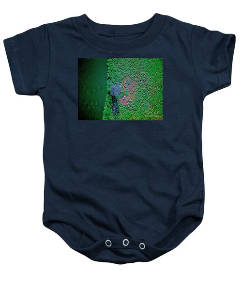 Wind Blown Marsh Tree And Water Baby Onesie