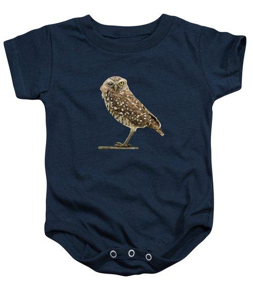 Winking Owl Baby Onesie