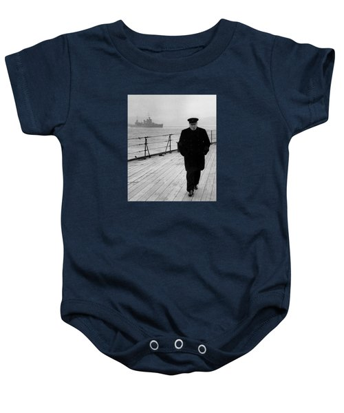 Winston Churchill At Sea Baby Onesie