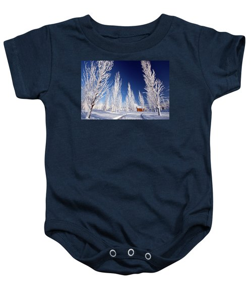 Winter Landscape Baby Onesie