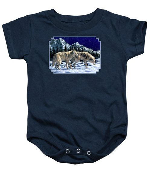 Wolves - Unfamiliar Territory Baby Onesie by Crista Forest