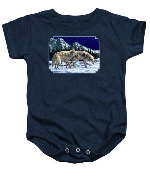 Wolves - Unfamiliar Territory Baby Onesie