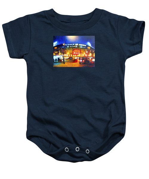Wrigley Field Home Of Chicago Cubs Baby Onesie