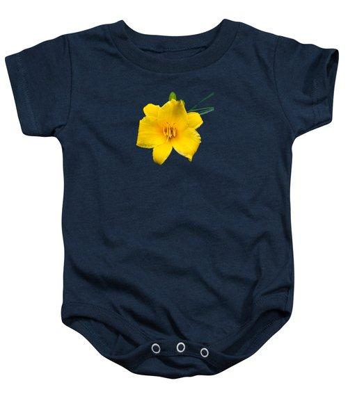 Yellow Daylily Flower Baby Onesie