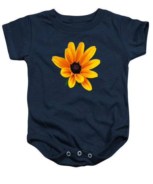 Yellow Flower Black-eyed Susan Baby Onesie by Christina Rollo