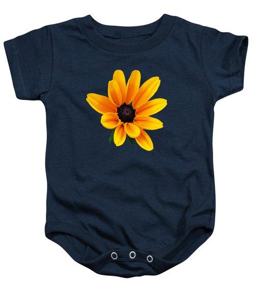 Yellow Flower Black-eyed Susan Baby Onesie