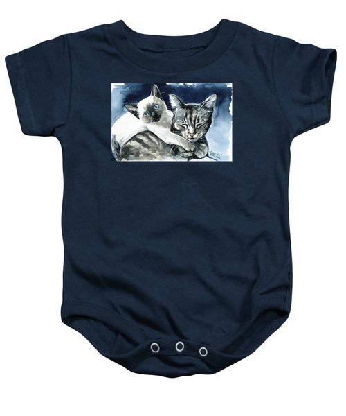 You Are Mine - Cat Painting Baby Onesie