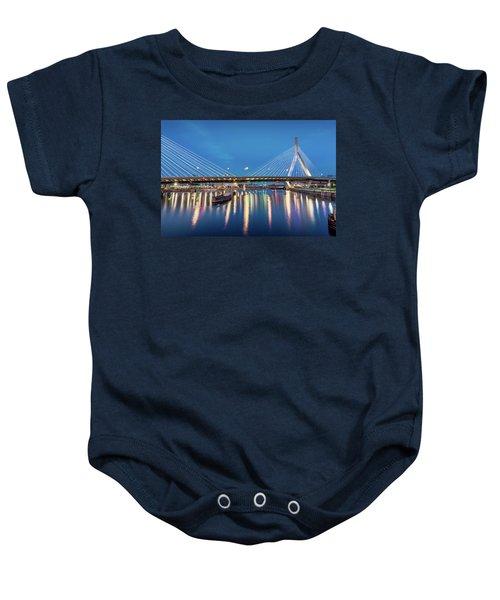 Zakim Bridge And Charles River At Dawn Baby Onesie