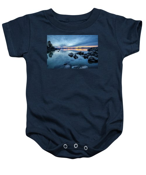 Colorful Sunset At Sand Harbor Baby Onesie