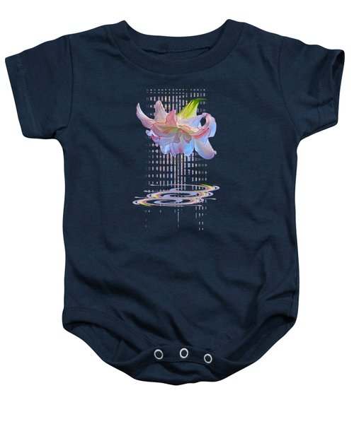 Curtain Of Dreams - Amaryllis Abstract Baby Onesie