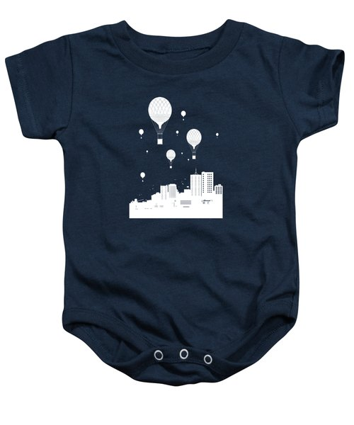 Balloons And The City Baby Onesie