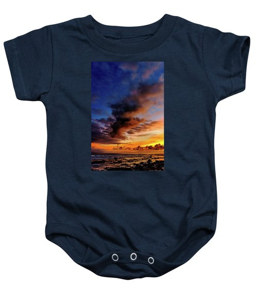 Baby Onesie featuring the photograph Blue To Orange by John Bauer