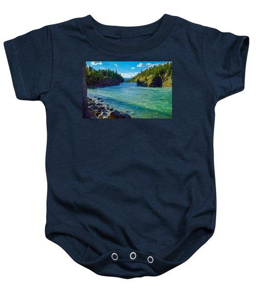 Bow River In Banff Baby Onesie