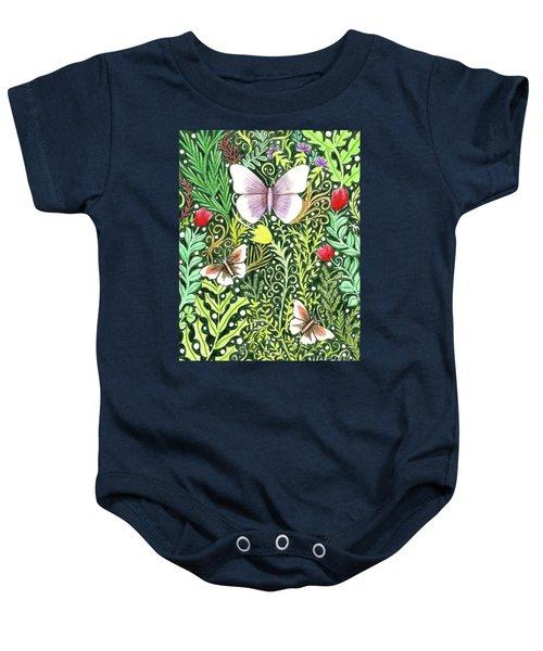 Butterflies In The Millefleurs Baby Onesie