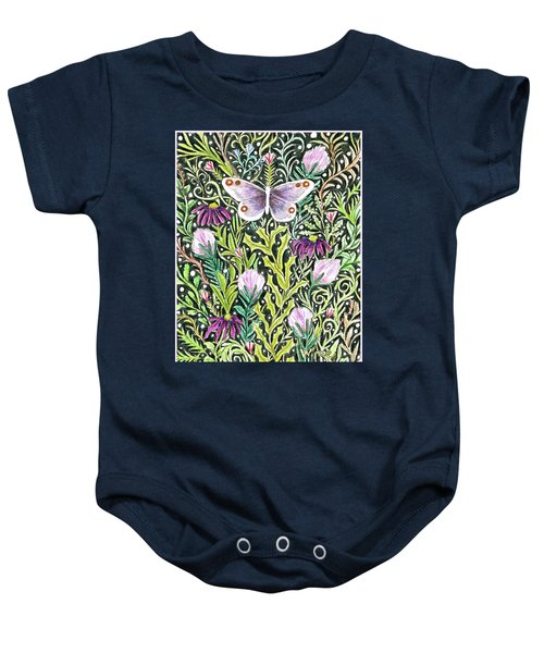 Butterfly Tapestry Design Baby Onesie