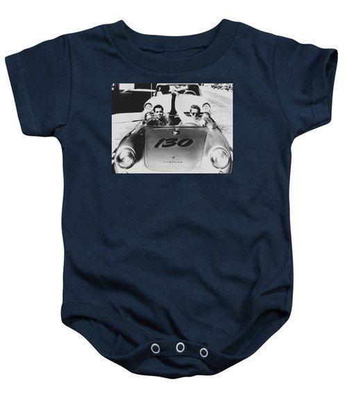Classic James Dean Porsche Photo Baby Onesie