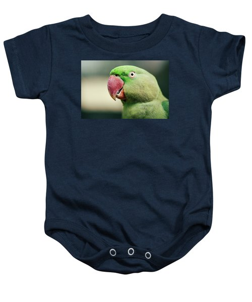 Close Up Of A King Parrot Baby Onesie