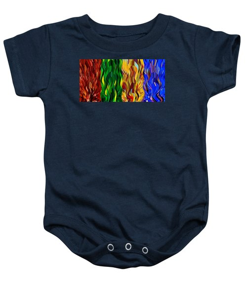 Colored Fire Baby Onesie