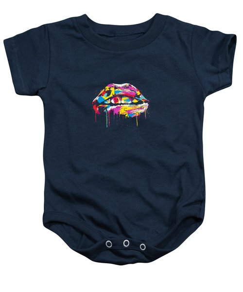 Colorful Lips Baby Onesie