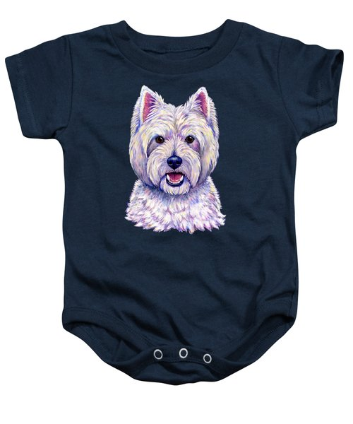 Colorful West Highland White Terrier Dog Baby Onesie