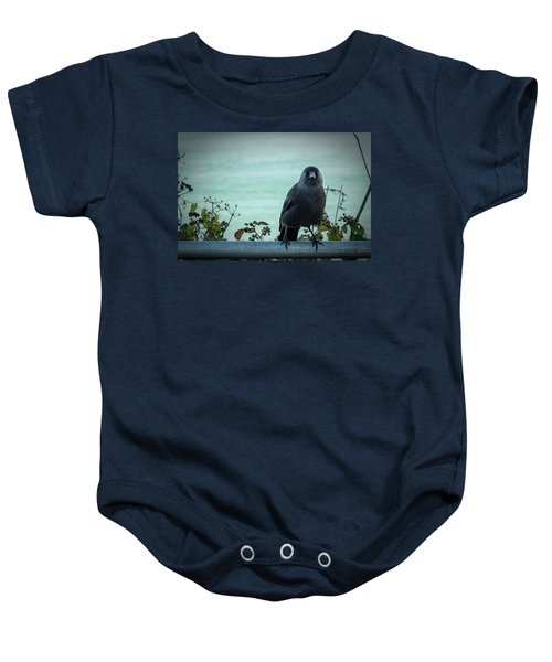 Cornish Crow Baby Onesie