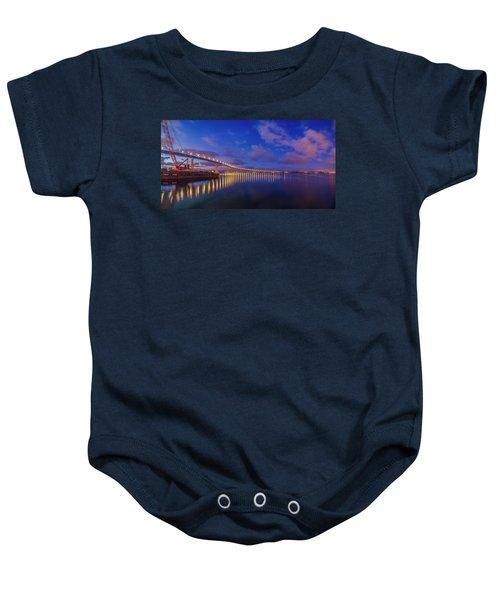 Coronado Bridge Sunrise - Panorama Baby Onesie