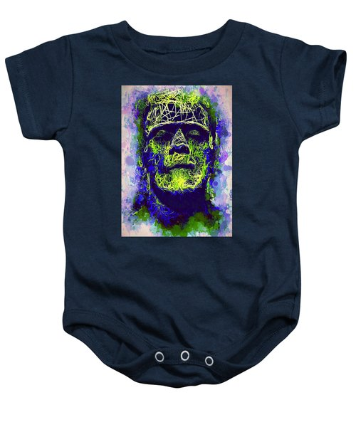 Frankenstein Watercolor Baby Onesie