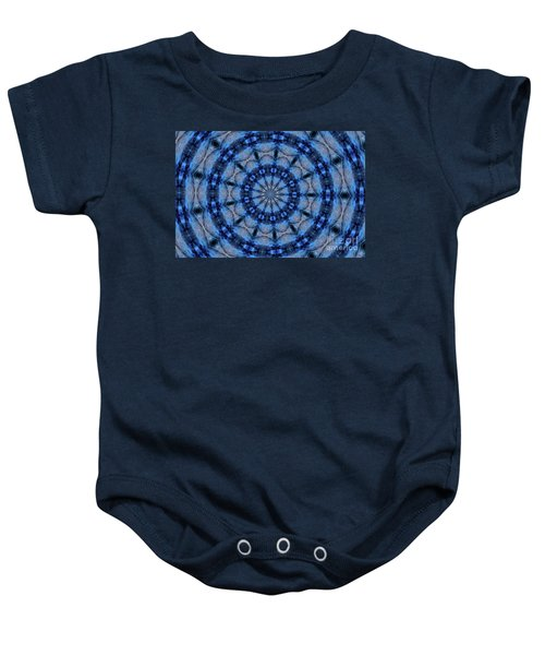 Blue Jay Mandala Baby Onesie
