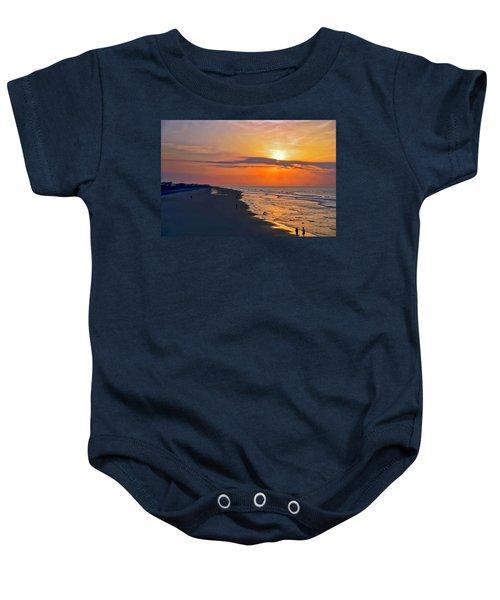 Folly Beach Sunrise Baby Onesie