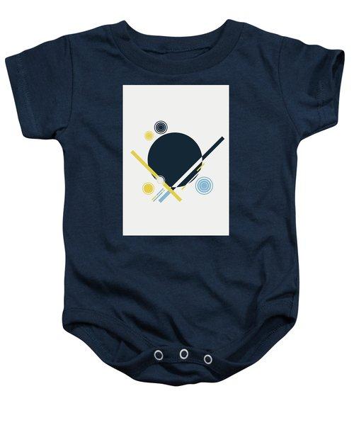 Geometric Painting 3 Baby Onesie