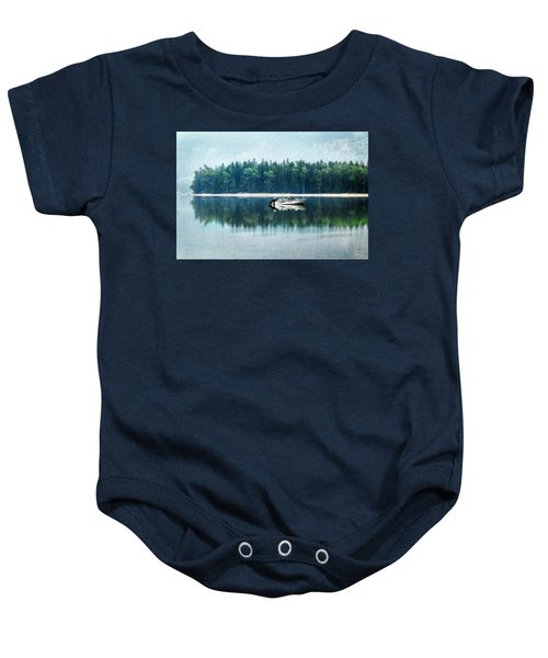 Glacier National Park Lake Reflections Baby Onesie